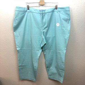 Old Navy Pixie Pants Ocean Green Size 28 NWT